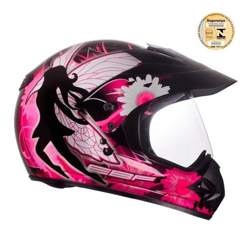 capacete moto ebf feminino cross fechado varias cores e tamx