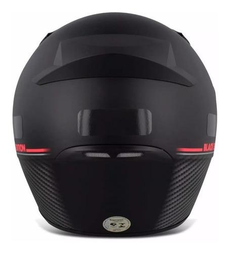 capacete moto ebf new spark black edition fechado fosco + nf