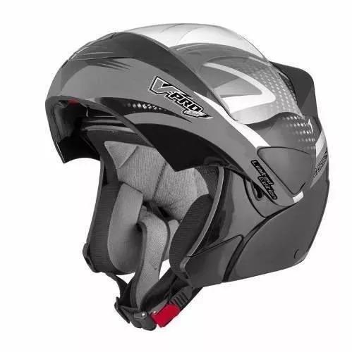 capacete moto escamoteável articulado pro tork v-pro jet 2