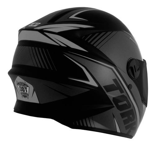capacete moto fechado r8 viseira fumê pro tork prata