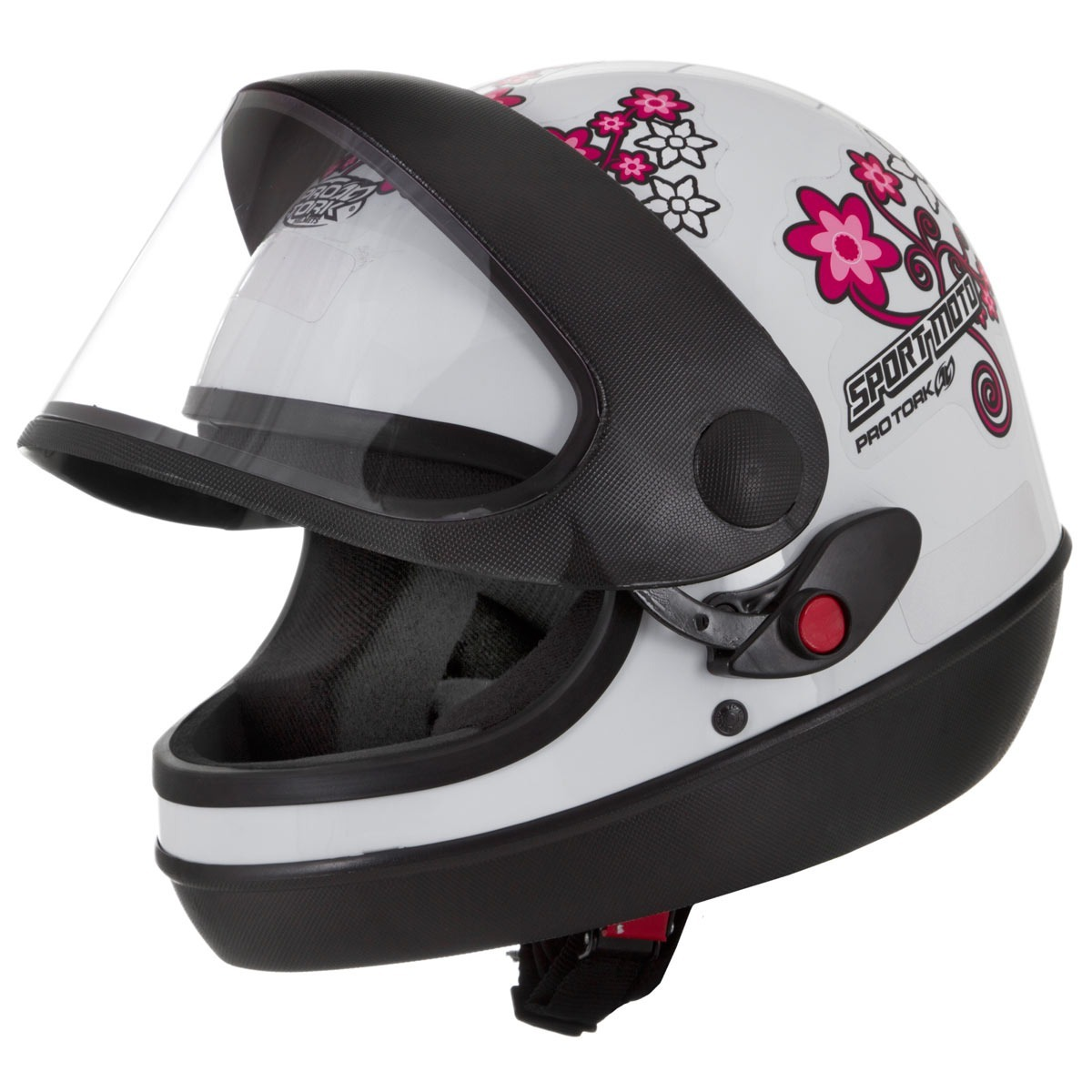 capacete moto feminino preto pro tork sport moto. Carregando zoom. b6b685d53ad