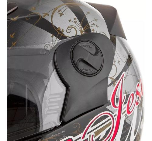 capacete moto gospel cristão evangélico 56/58/60 masculino/feminino branco/preto pro tork