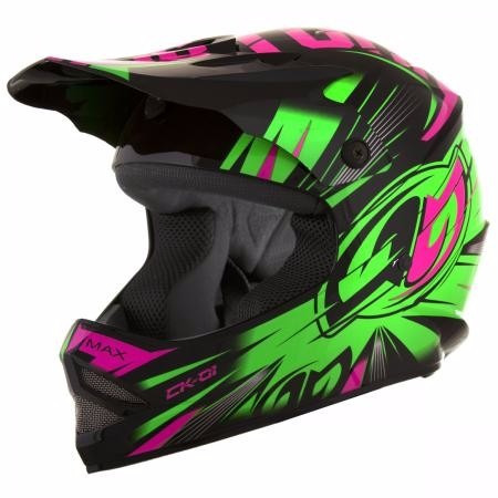 capacete moto infantil cross trilha pro tork kids ck 01