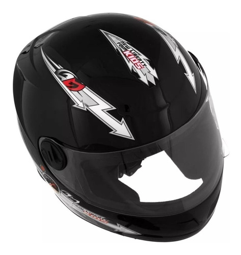 capacete moto infantil pro tork liberty 4 kids 54 preto