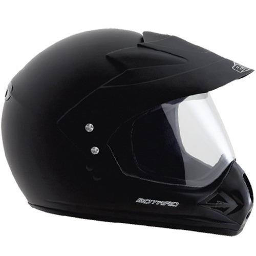 capacete moto motardcross ebf casco alto impacto preto fosco
