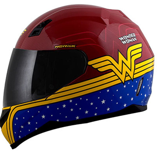 capacete moto norisk ff391 mulher maravilha heróis
