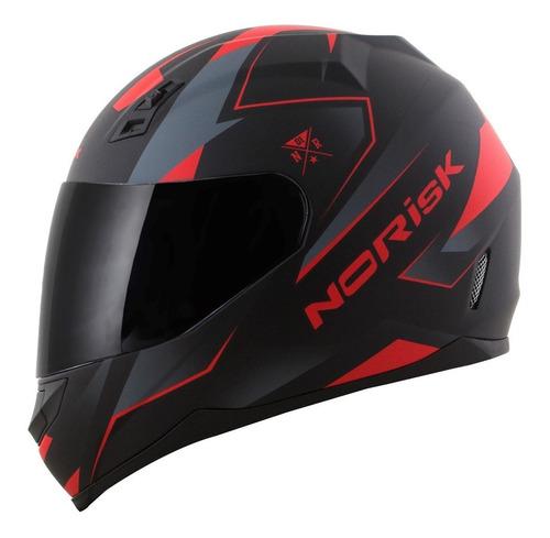 capacete moto norisk ff391 stripes preto fosco oferta