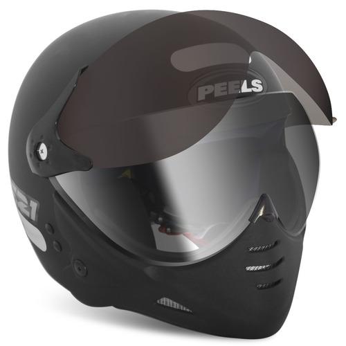capacete moto peels f21 clássico fosco viseiras dupla