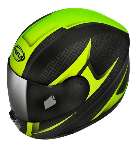 capacete moto peels spike storm preto verde fosco 60 com nf