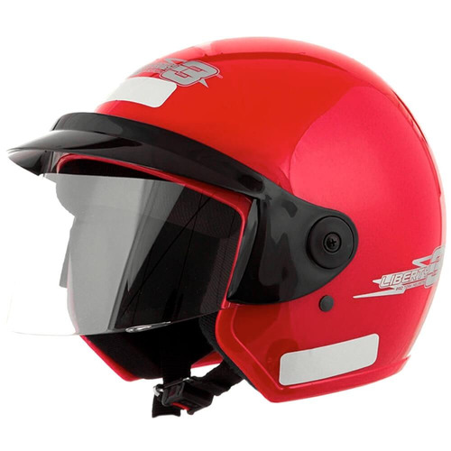 capacete moto pro tork liberty three 60 vermelho
