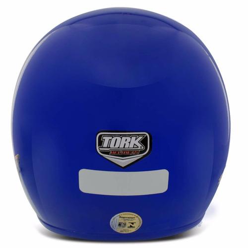 capacete moto pro tork liberty three casco em abs  azul