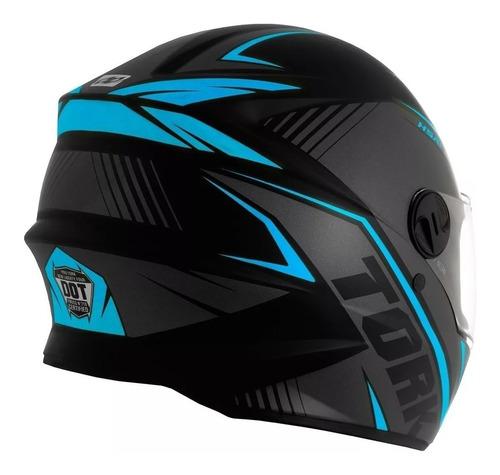capacete moto pro tork r8 fechado viseira 2 mm com nf