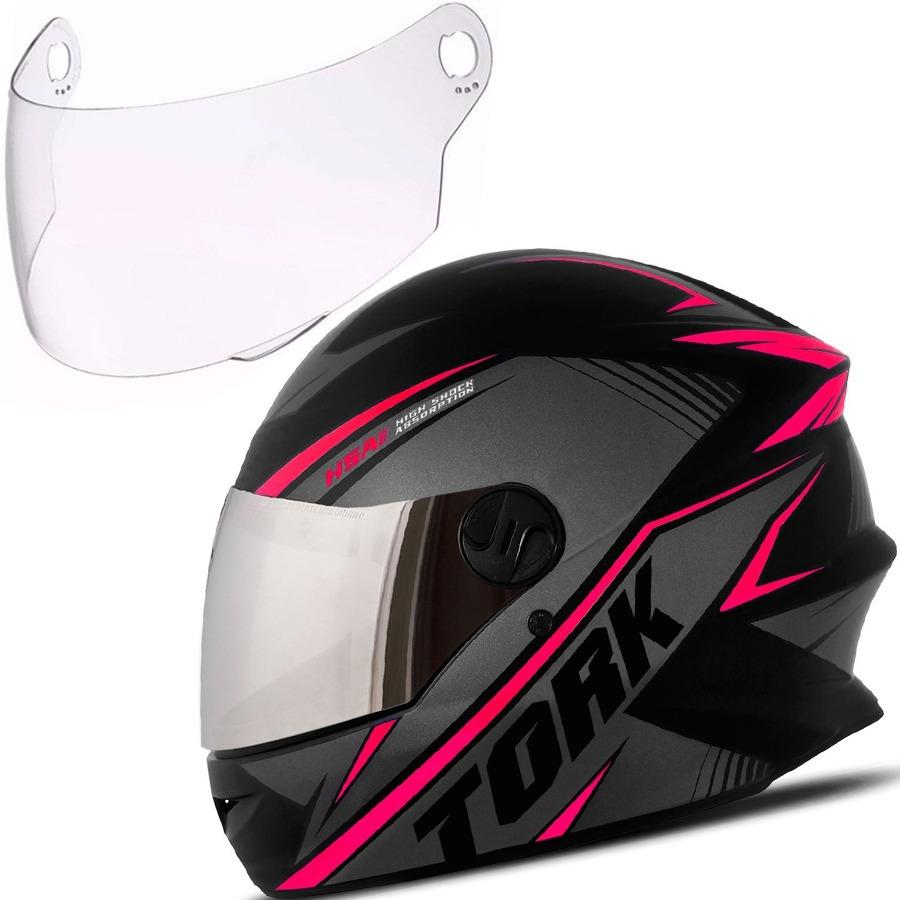 37a3d86d85be5 capacete moto r8 pro tork viseira cromada + 1 cristal extra. Carregando  zoom.