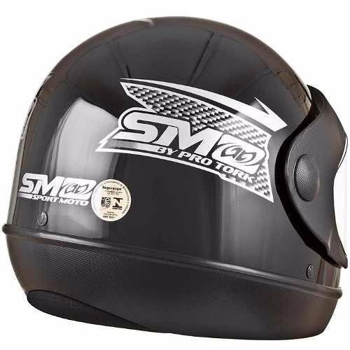 capacete moto sm automatico marino pro tork motoboy preto