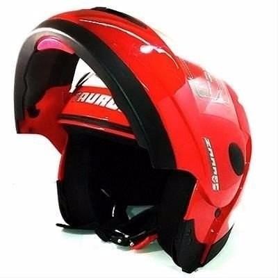 capacete moto zarref classic vermelho 56