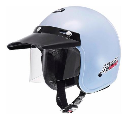 capacete motociclista aberto pro tork liberty compact branco