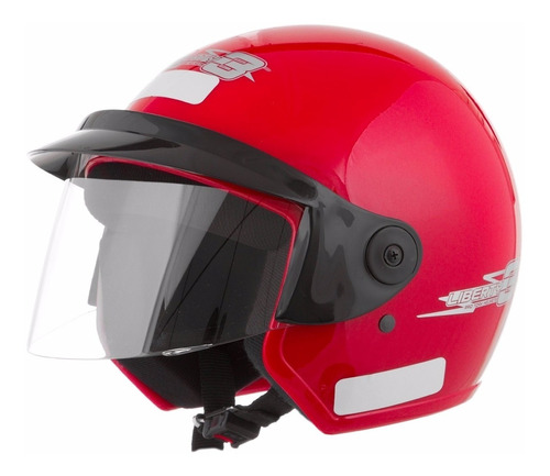 capacete motociclista aberto pro tork liberty three vermelho