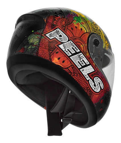 capacete motociclista peels spike indie chumbo e colorido nf