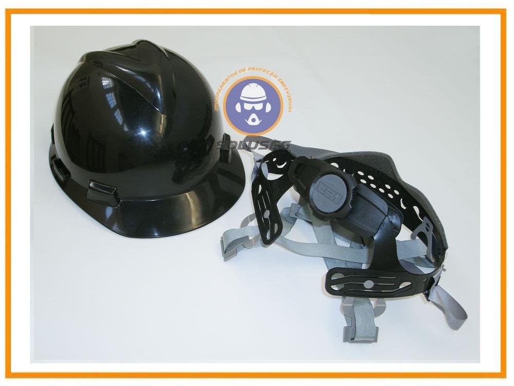 9bc89dbe45890 capacete msa aba frontal preto - suspensão catraca e jugular. Carregando  zoom.