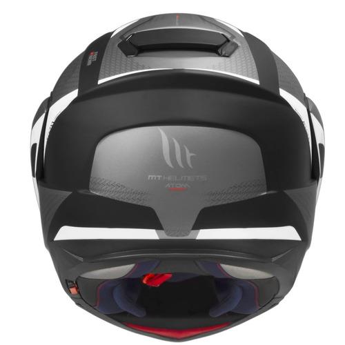 capacete mt articulado atom tarmac fosco com viseira solar