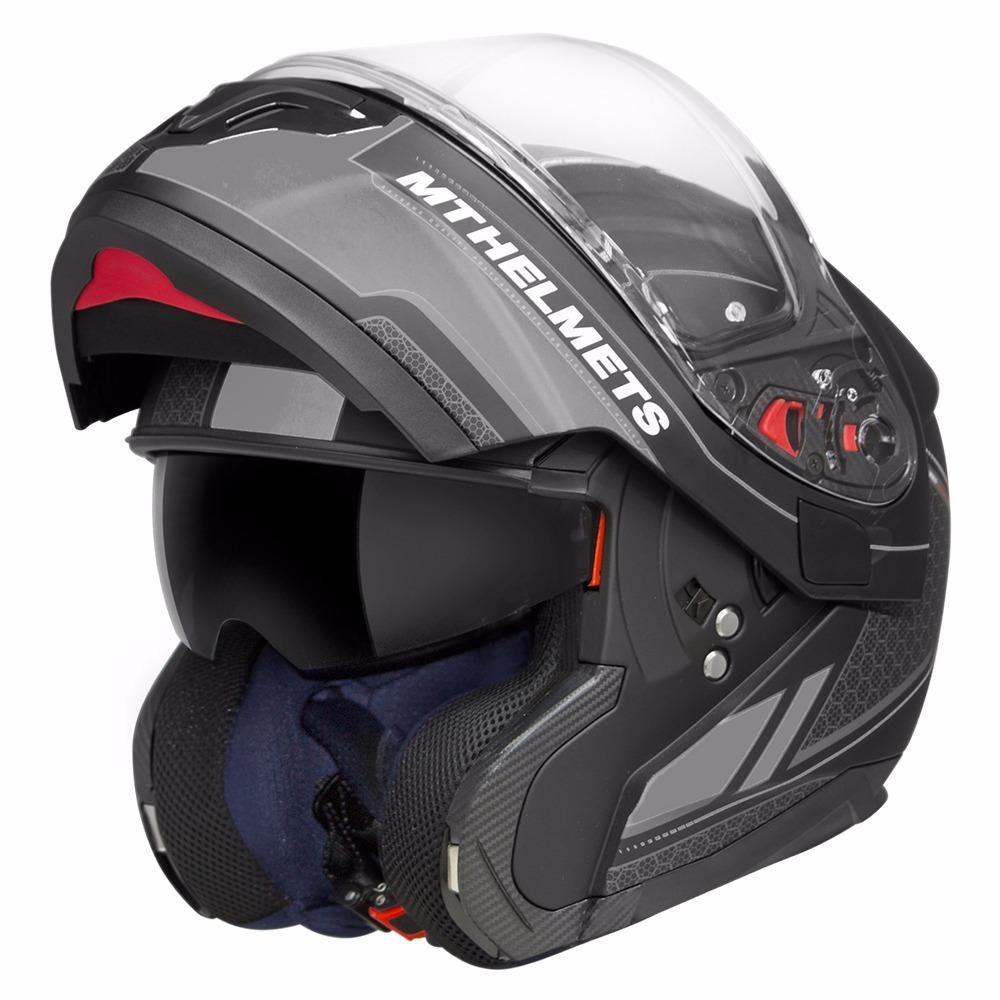 capacete mt atom sv raceline preto fosco cinza viseira solar. Carregando  zoom. a27de6e2f15