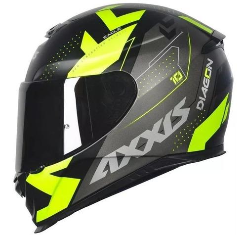 capacete mt axxis diagon preto fosco amarelo lançamento