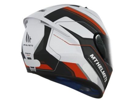 capacete mt stinger pole matt white/black/red 56 a 62