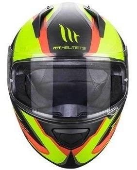 capacete mt stinger spike matt blue yellow