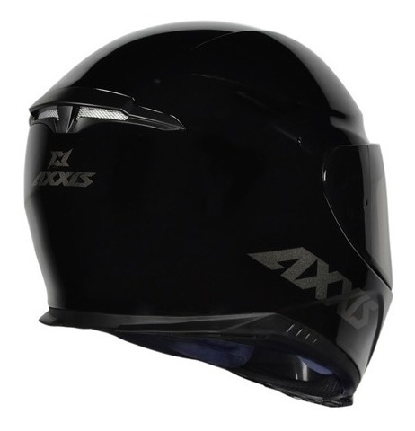 capacete mt/axxis eagle preto monocolor brilhante 59-60