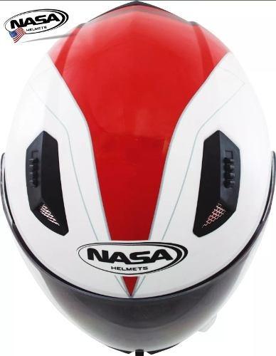 capacete nasa sh881 u. s. a scorpion branco x vermeho tam 60