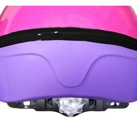 capacete nathor infantil com regulagem - rosa