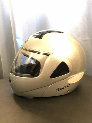 capacete nau spirit prata cintilante
