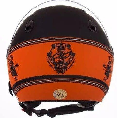 capacete new atomic 58 hd skull riders pro tork promoção