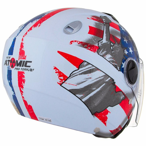 capacete new atomic americano usa pro tork viseira solar eua