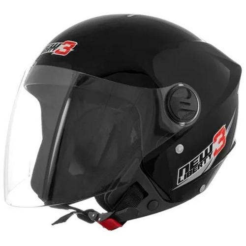 capacete new liberty three preto fosco 56