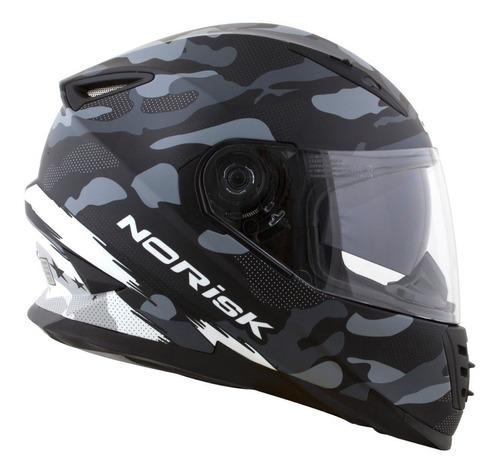 capacete norisk ff302 destroyer preto cinza