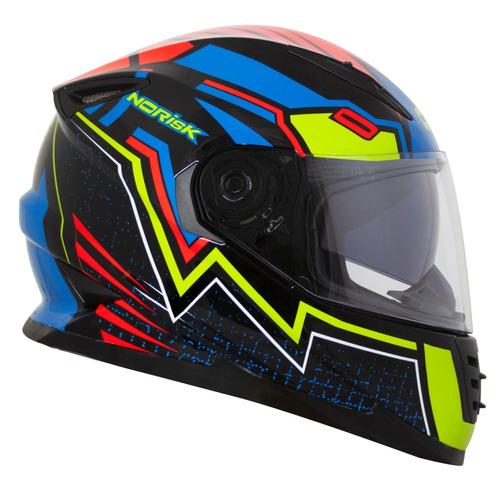 capacete norisk ff302 soul wizard com viseira solar novo