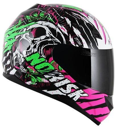 capacete norisk ff391 gore branco/rosa/verde