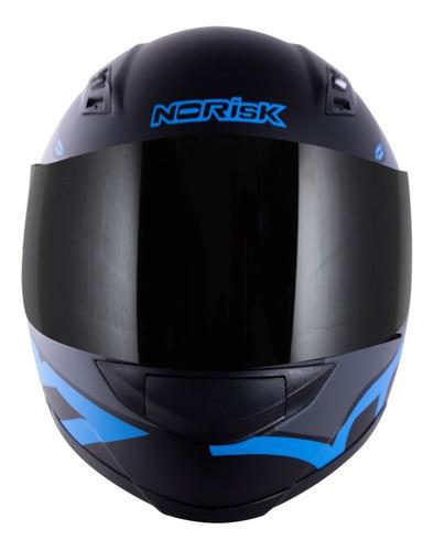 capacete norisk ff391 squalo preto azul fosco