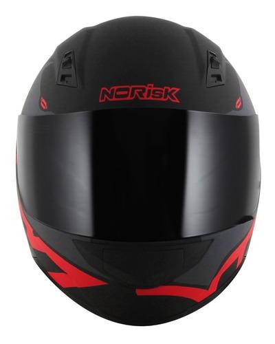 capacete norisk ff391 squalo preto fosco