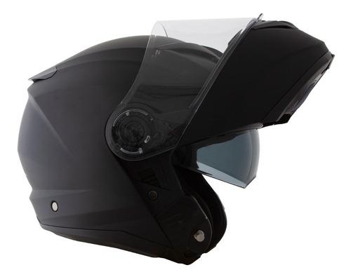 capacete norisk force preto fosco escamoteável viseira solar