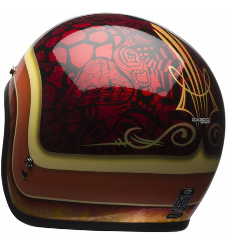 capacete old school bell custom 500 hart lucky retro cafe
