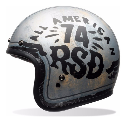 capacete old school bell custom 500 rsd 74  retro cafe racer