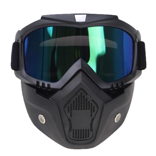 capacete openface com 2 máscaras