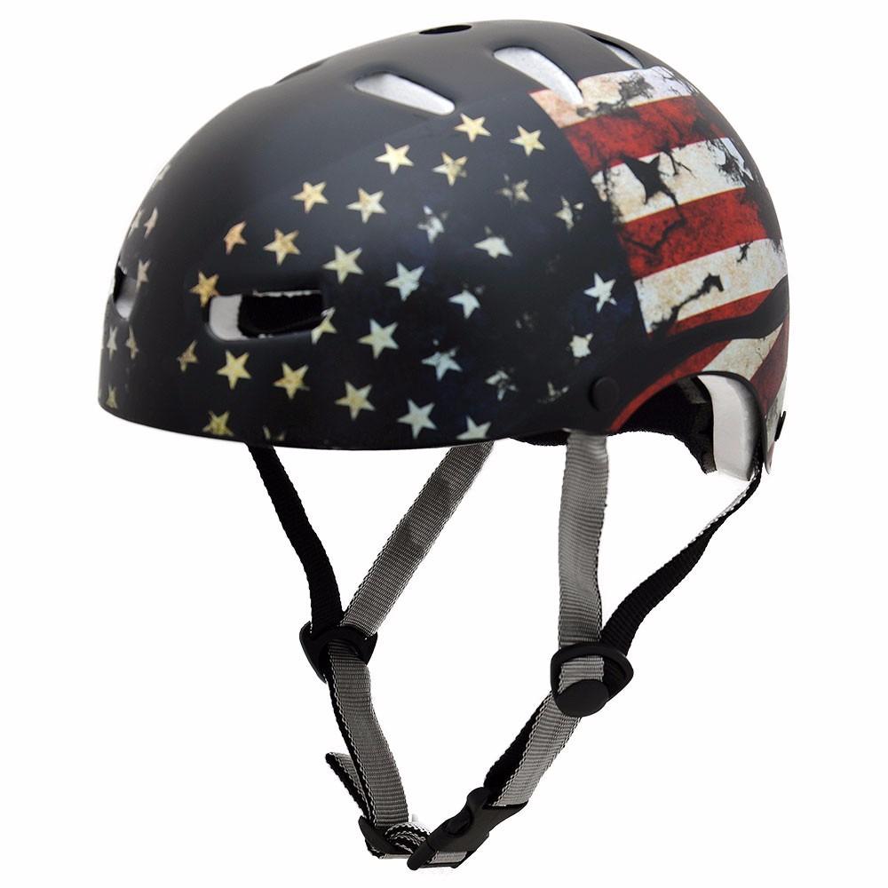 capacete para bike kraft skate patins bandeiras -original. Carregando zoom. 5bc25677a53