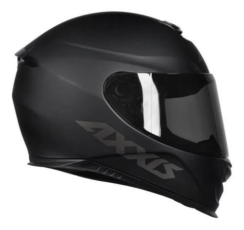 capacete para moto axxis eagle monocolor preto fosco mt + nf