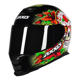 Capacete Para Moto Integral Axxis Helmets Eagle Skull Black/yellow M