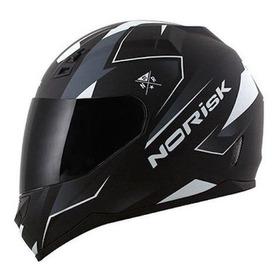 Capacete Para Moto Integral Norisk Ff391 Stripes Black/white  Xl