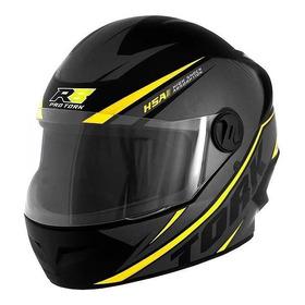 Capacete Para Moto Integral Pro Tork R8 Preto/amarelo  L