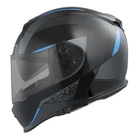 Capacete Para Moto Integral X11 Revo Azul Tamanho 56